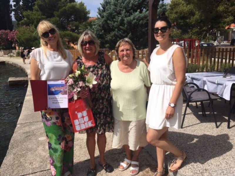 Dodjela zahvalnice dugogodišnjoj gošći Dubrovnika