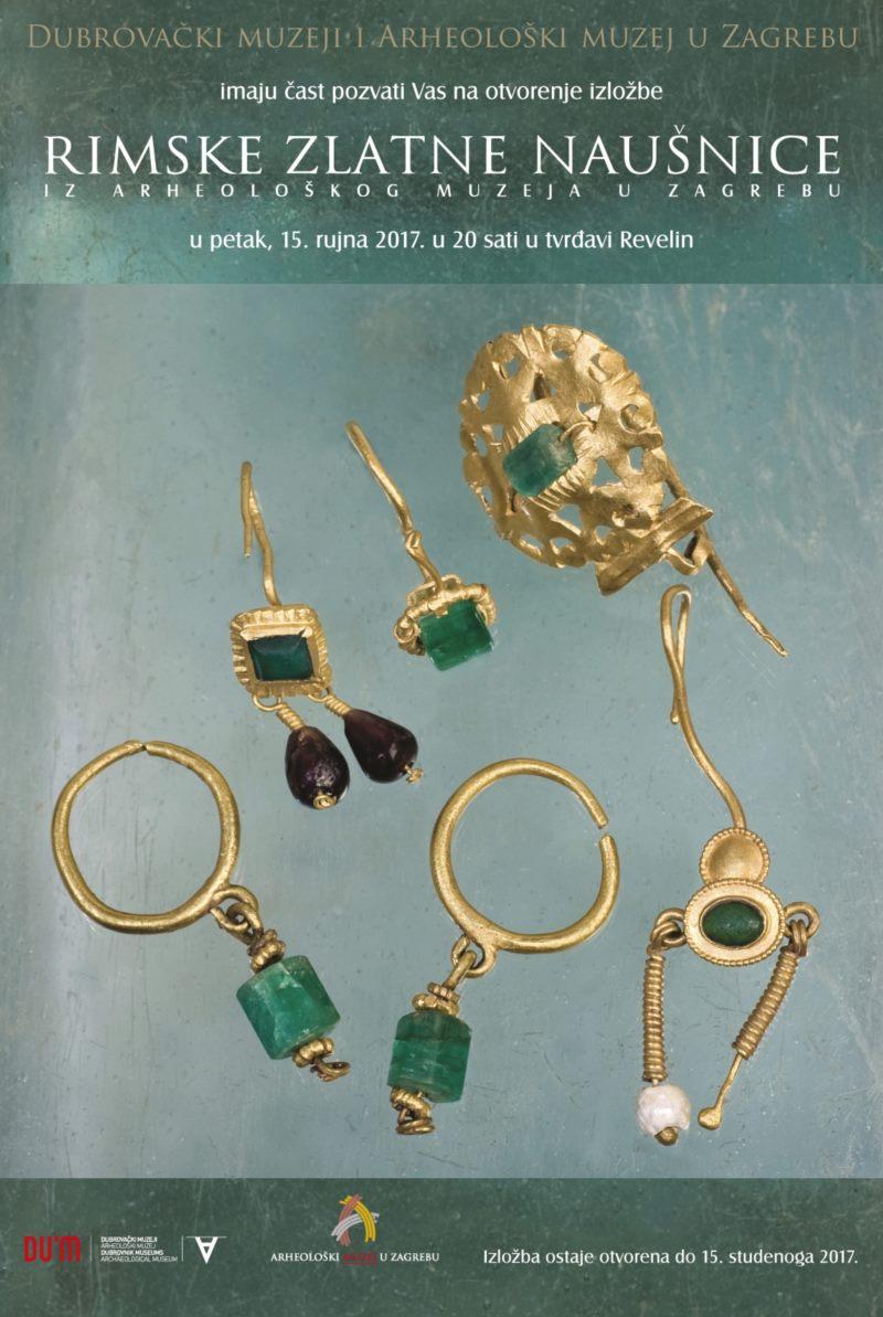 Izložba »RIMSKE ZLATNE NAUŠNICE iz Arheološkog muzeja u Zagrebu« u Dubrovniku