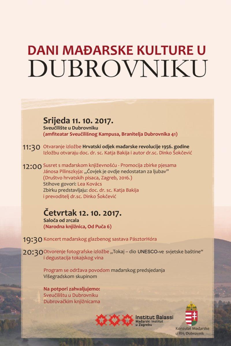 Dani Mađarske kulture u Dubrovniku