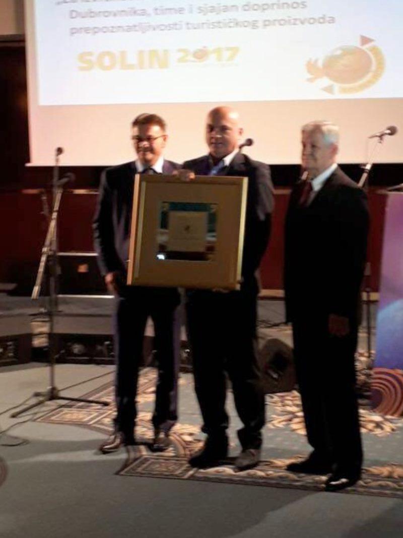 Turistička zajednica grada Dubrovnika dobitnik nagrade Zlatni Interstas 2017