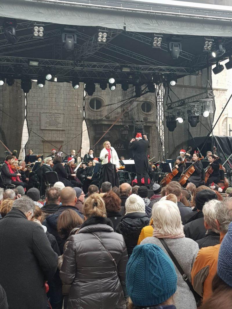 Novogodišnji koncert na Stradunu