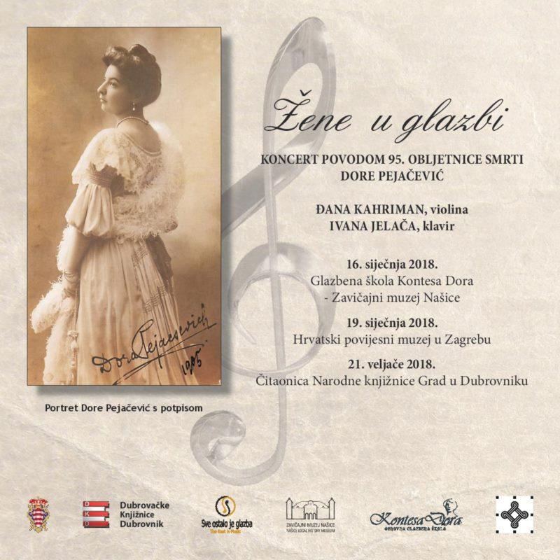 Koncert povodom 95. obljetnice smrti Dore Pejačević