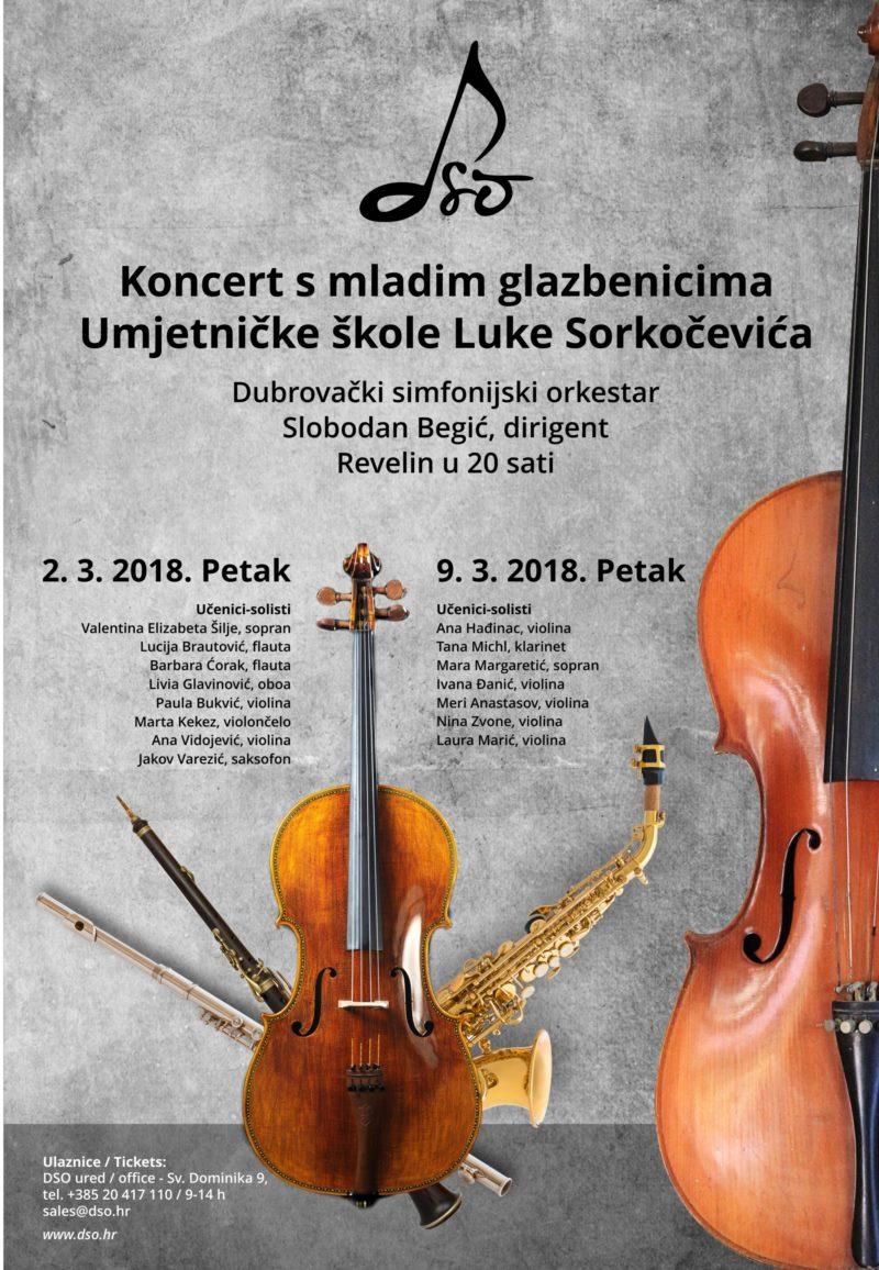 Koncert s mladim glazbenicima Umjetničke škole Luke Sorkočevića