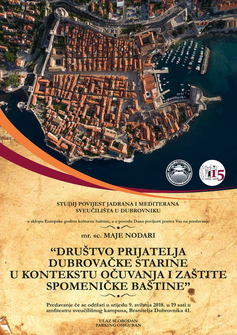 Predavanje o očuvanju dubrovačke spomeničke baštine