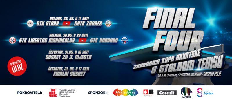 Final Four kupa Hrvatske u stolnom tenisu
