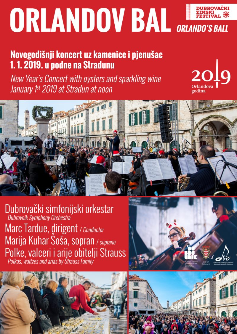 Novogodišnji koncert - Orlandov bal uz kamenice i pjenušac