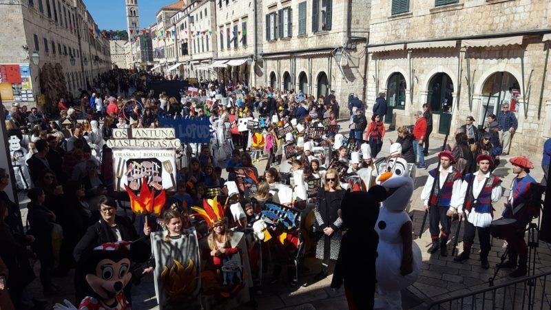 Maškarani školski dan vrhunac dvadesetog Dubrovačkog karnevala