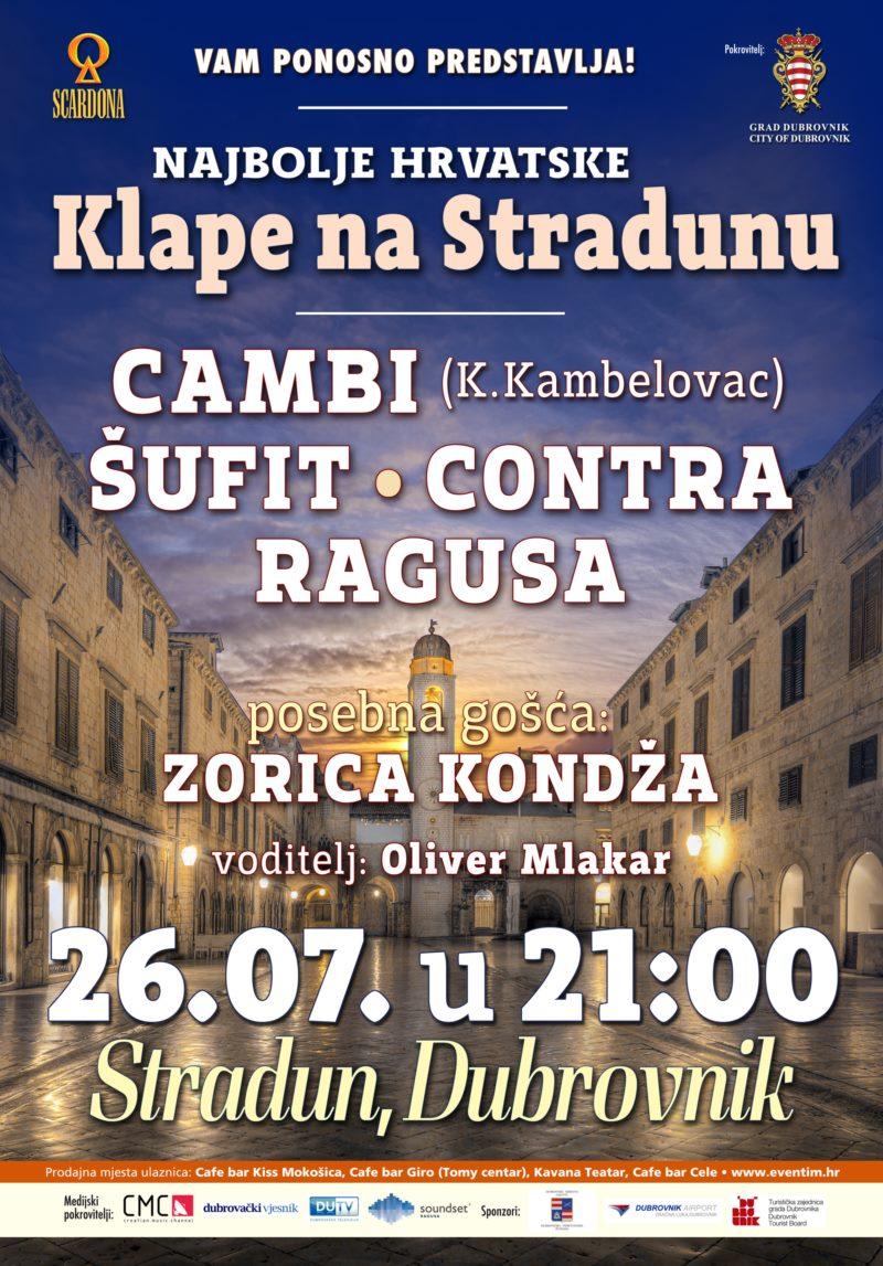 Najbolje hrvatske klape na Stradunu