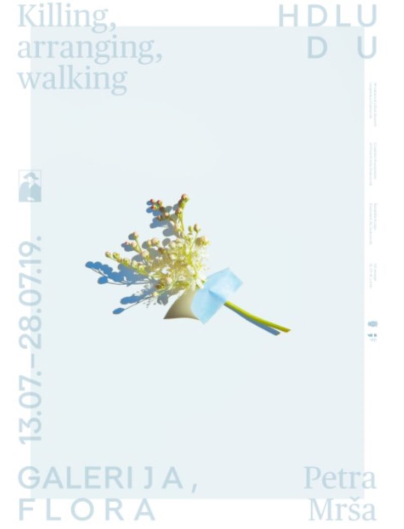 Petra Mrša,  Killing, arranging, walking - Izložba - HDLU - Galerija Flora