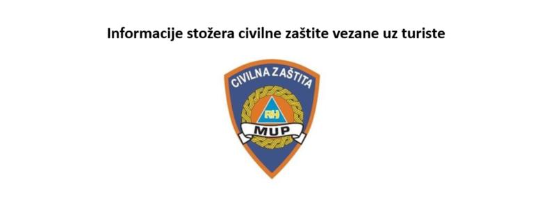 Informacije stožera civilne zaštite vezane uz turiste