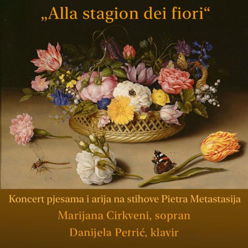 """Koncert/recital """"Alla stagion dei fiori"""" nadahnut zbirkom pjesama Ariette Ivana pl. Zajca"""