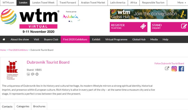 Prezentacija turističke ponude Dubrovnika na virtualnom sajmu WTM u Londonu