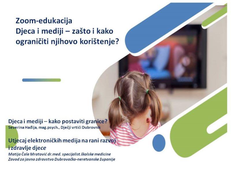Zoom edukacija o utjecaju elektroničkih uređaja na djecu