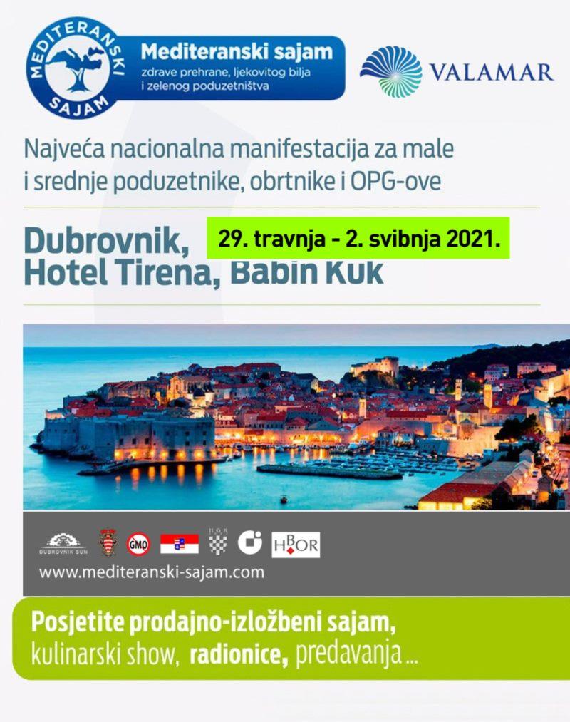 Novi termin 18. Mediteranskog  Sajma  u Dubrovniku