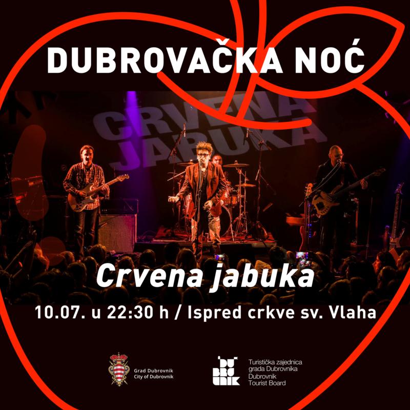 Dubrovačka noć - Koncert Crvene jabuke