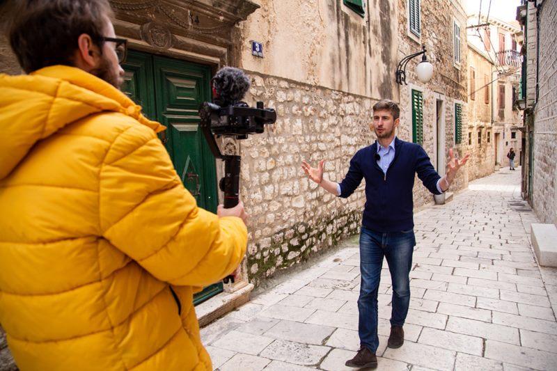 Hrvatsko-talijanski par predstavlja vodič o Mletačkoj Republici, prvi iz serije ''Nestalih država''