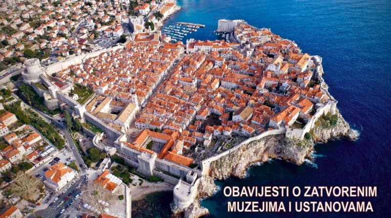Dubrovnik Museums closed until further notice