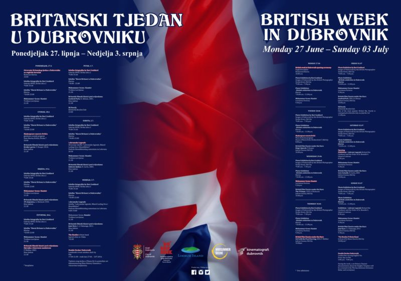 A Week of British Cultural Delights in the Centre of Dubrovnik!
