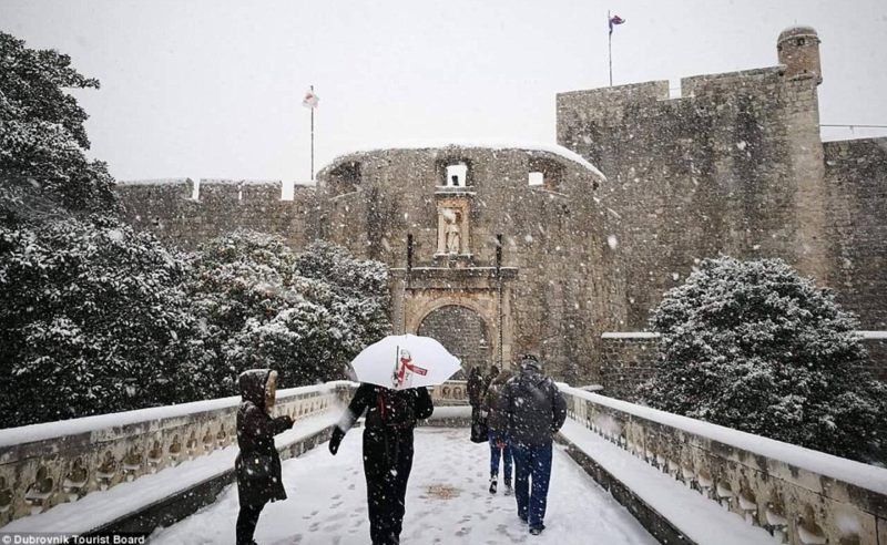 The Daily Mail on Snow in Dubrovnik