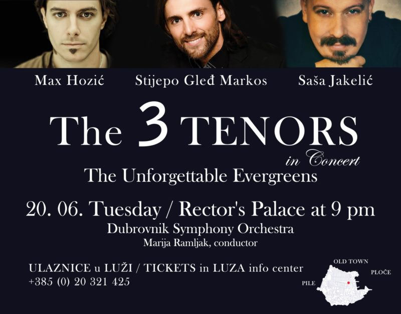 Concert - 3 Tenors and Dubrovnik Symphony Orchestra