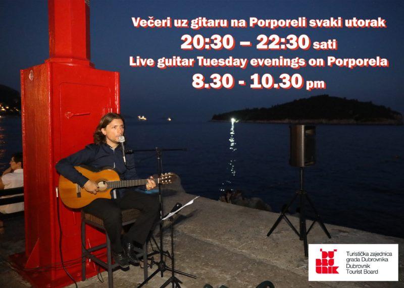 Live guitar Tuesday evenings on Porporela