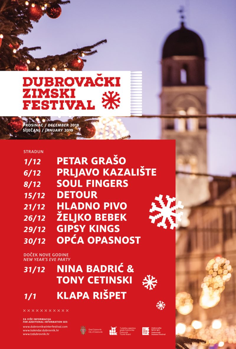 Promoting the Dubrovnik Winter Festival and New Year's Eve Program with Kolenda