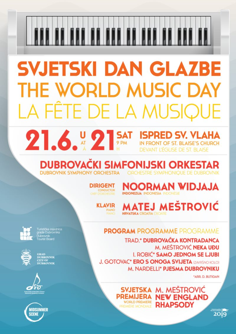 Matej Meštrović, with the Dubrovnik Syphony orchestra and Noorman Widjaj, prepare a musical spectacle and world premiere