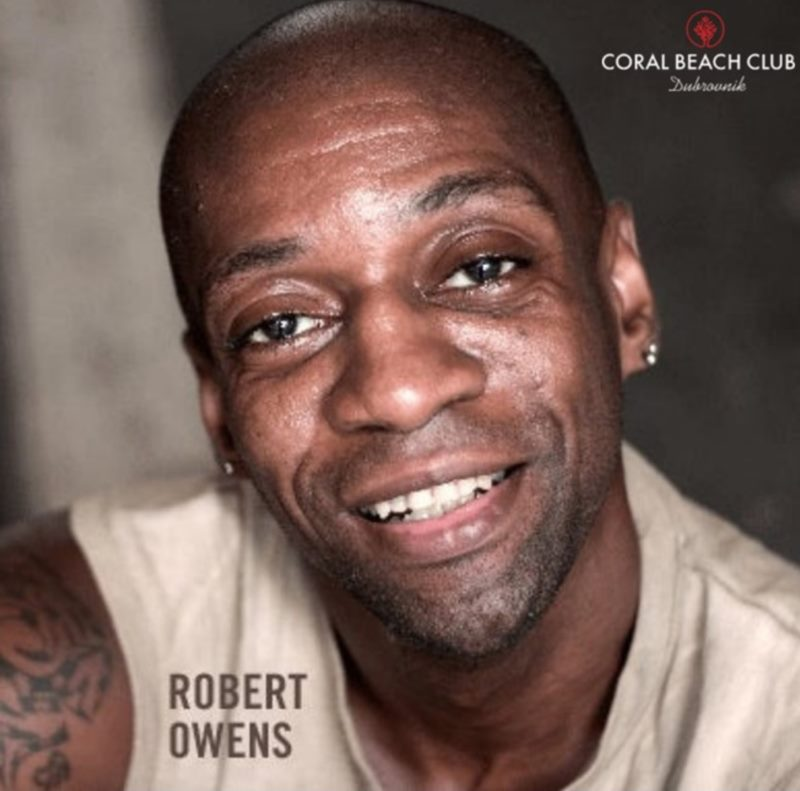 DJ Robert Owens on Coral Beach