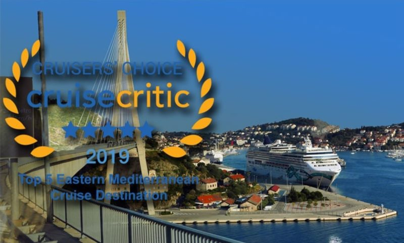 Port of Dubrovnik named as the Top-Rated Eastern Mediterranean Cruise Destination