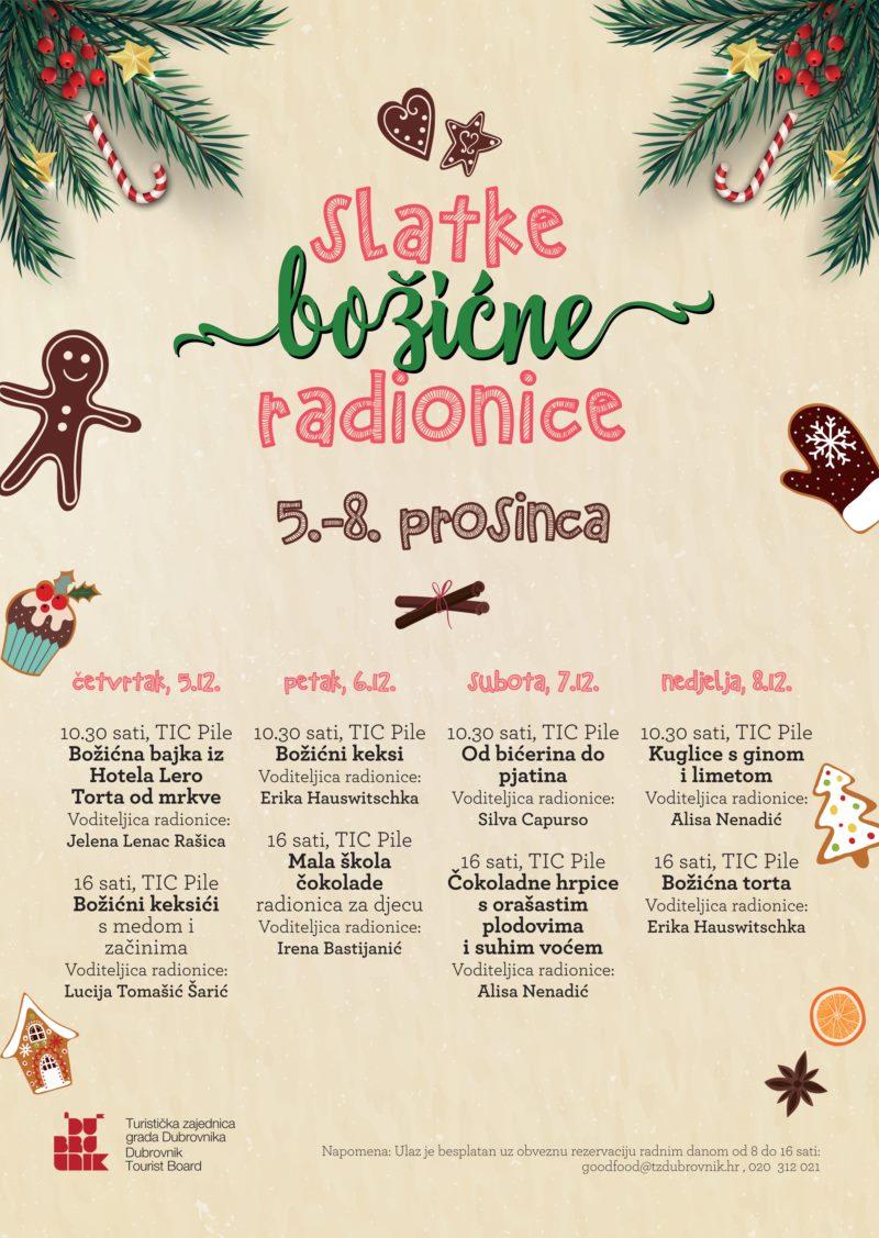 SWEET CHRISTMAS WORKSHOPS IN DUBROVNIK TOURIST BOARD