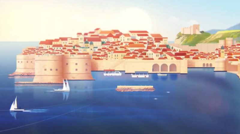 Knight Orlando the star of the animated film: Dubrovnik - a safe vacation
