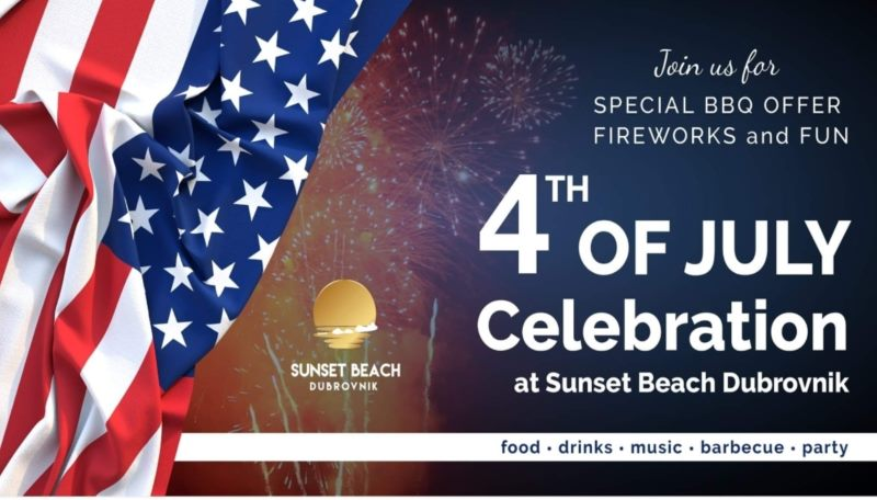 4th of July Celebration at Sunset Beach Dubrovnik