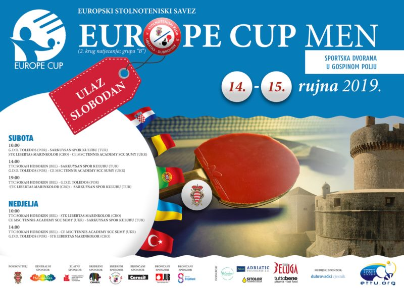 EUROPE CUP MEN - Table tenis