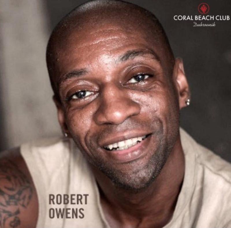 DJ Robert Owens on Coral Beach