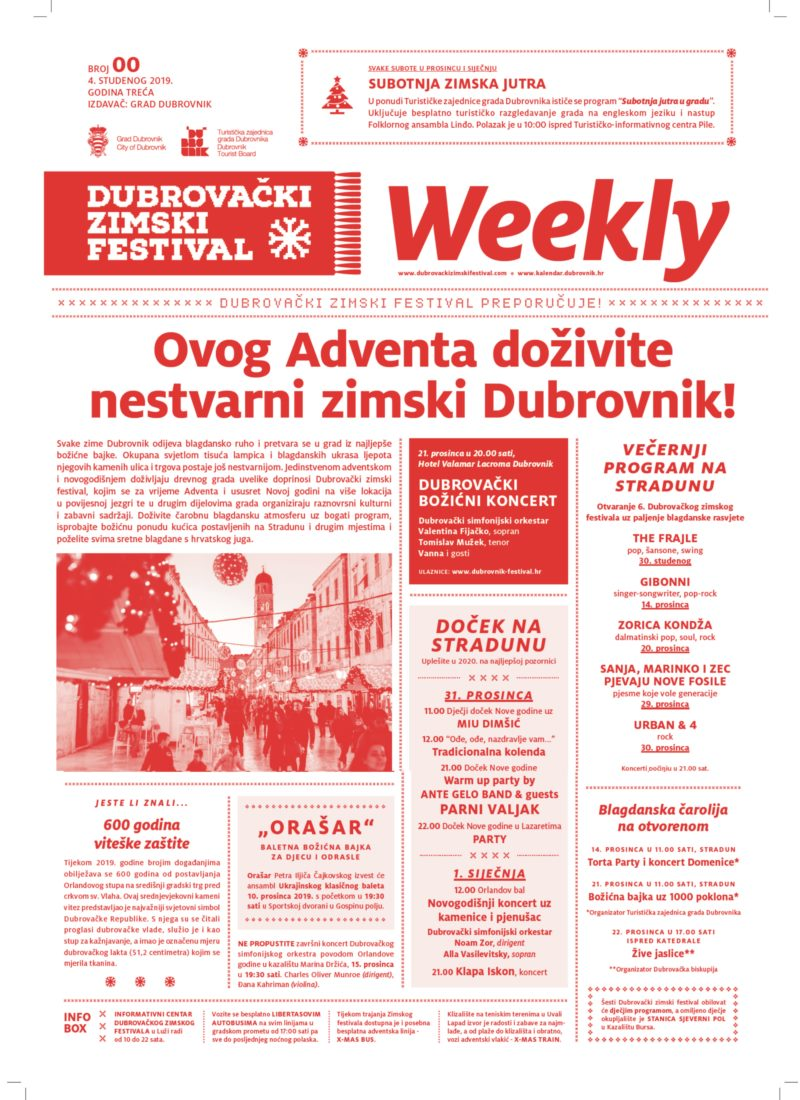 This Advent, experience the magic of winter in Dubrovnik!