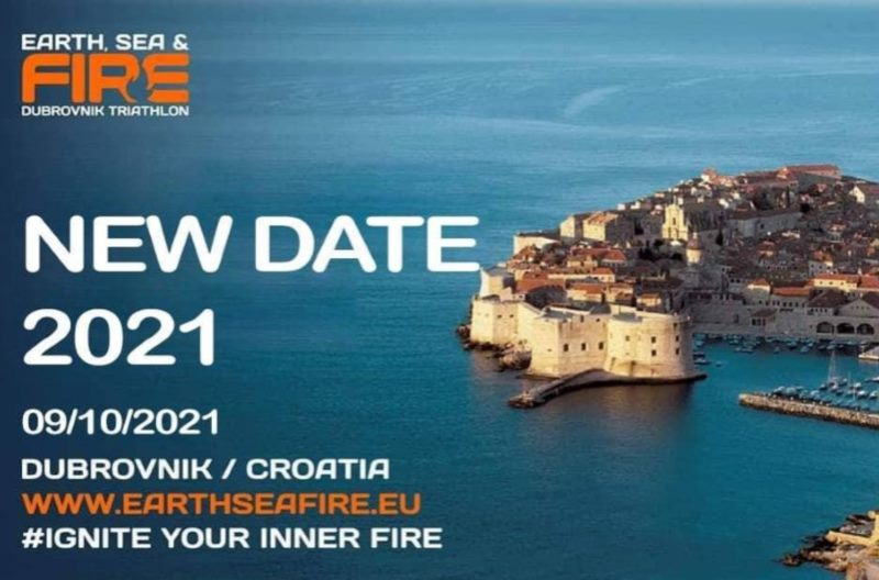 New date – Earth, Sea & Fire Triathlon Dubrovnik 2021
