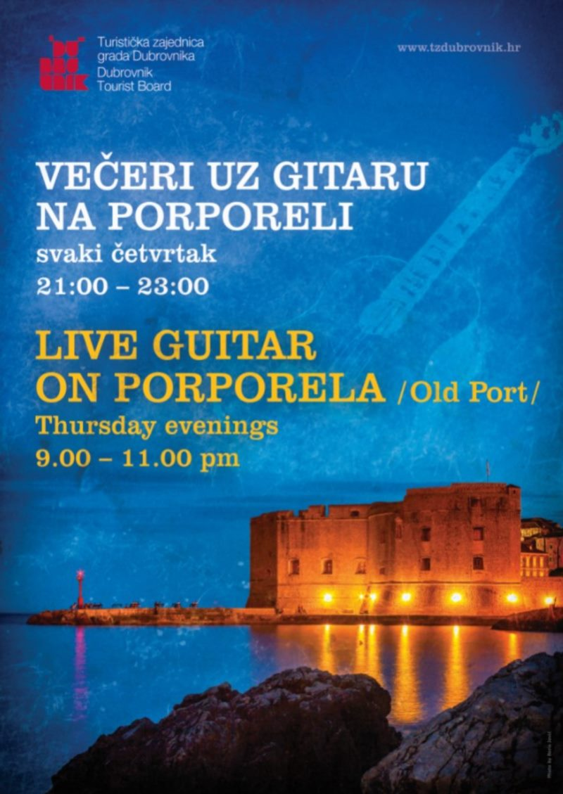 Live guitar on Porporela
