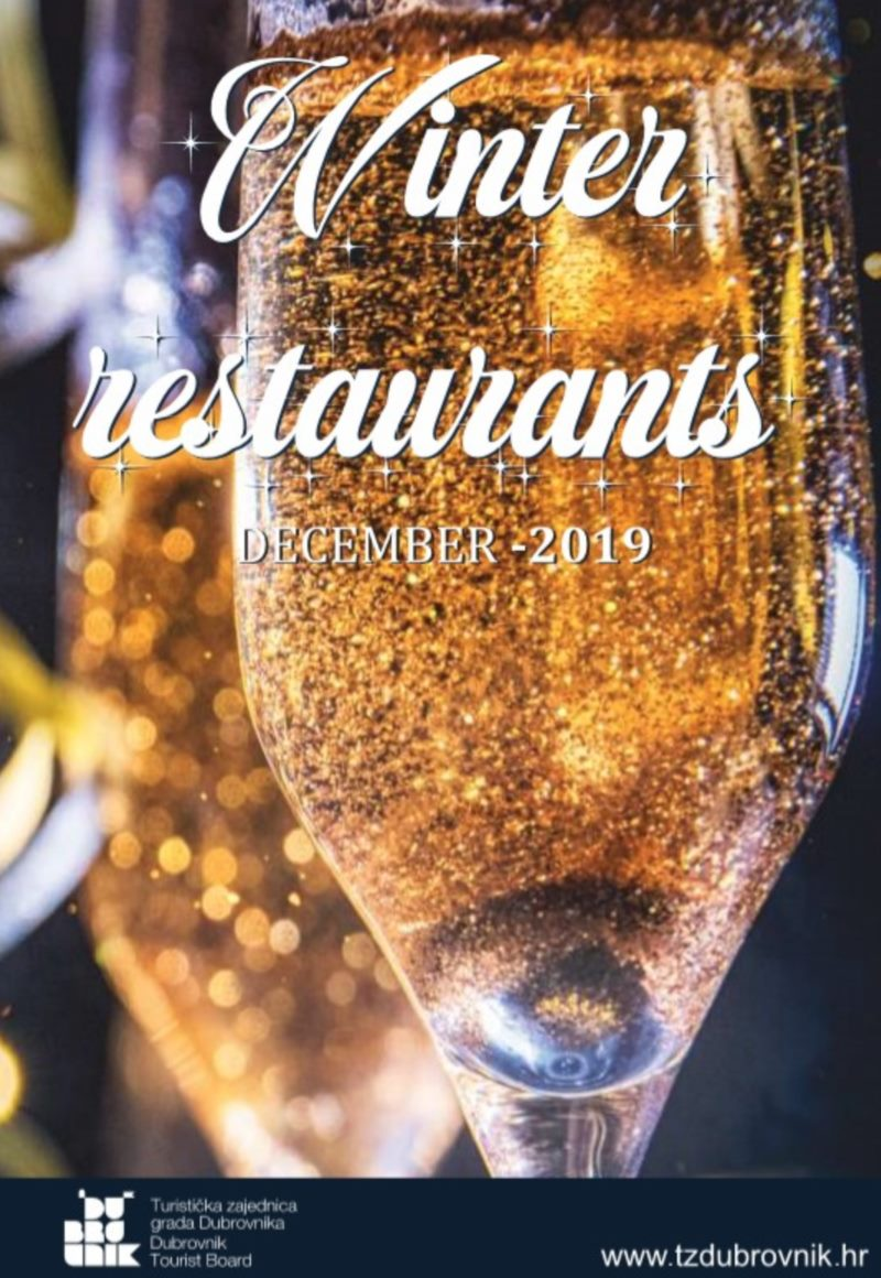 The Dubrovnik Tourist Board to conduct promotional activities for restaurants open during the winter period